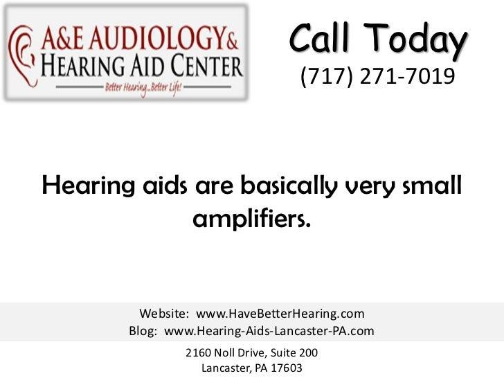 How Hearing Aids Work Slide 2