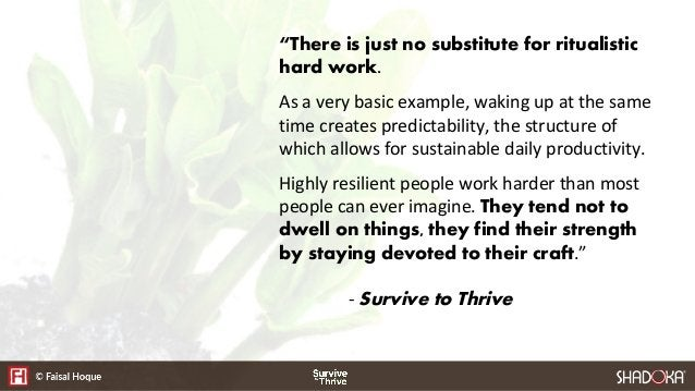How Highly Resilient People Survive to Thrive