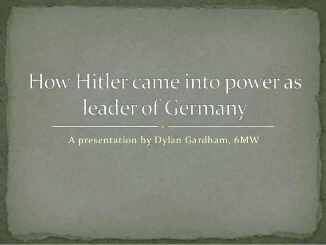 A presentation by Dylan Gardham, 6MW