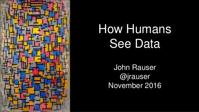 How Humans See Data John Rauser @jrauser November 2016