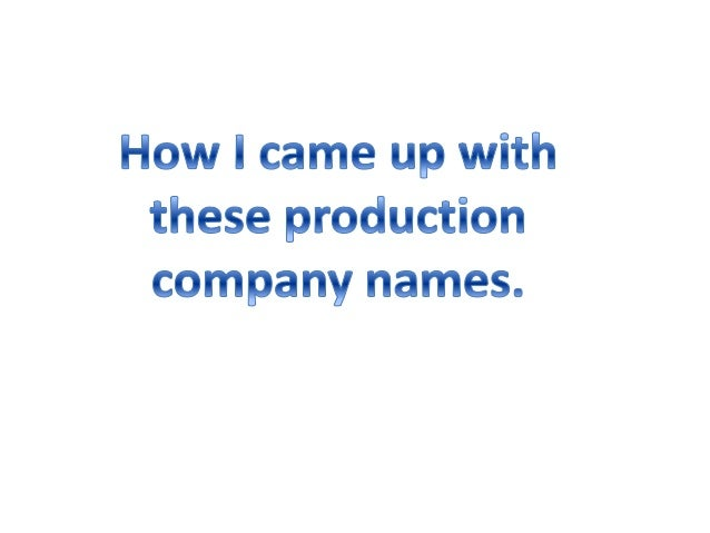 When thinking of a production company name, I decided to turn to film title generators in order to gather some ideas. One ...