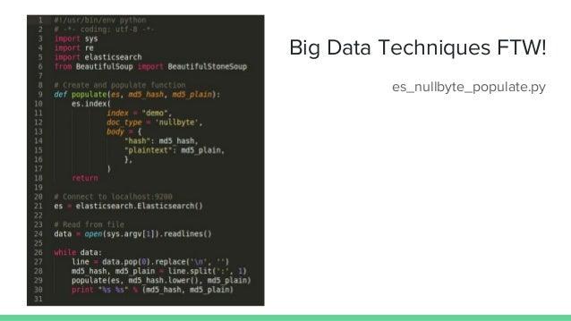 Big Data Techniques FTW! es_nullbyte_populate.py