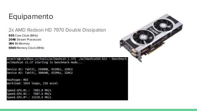 Equipamento 2x AMD Radeon HD 7970 Double Dissipation 925 Core Clock (MHz) 2048 Stream Processors 384 Bit Memory 5500 Memor...