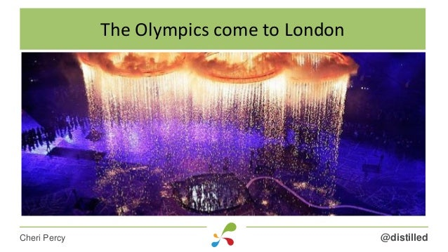 @distilledCheri Percy The Olympics come to London