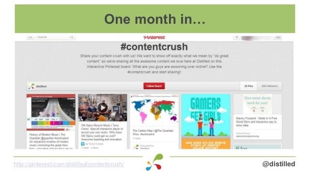 @distilledhttp://pinterest.com/distilled/contentcrush/ One month in…