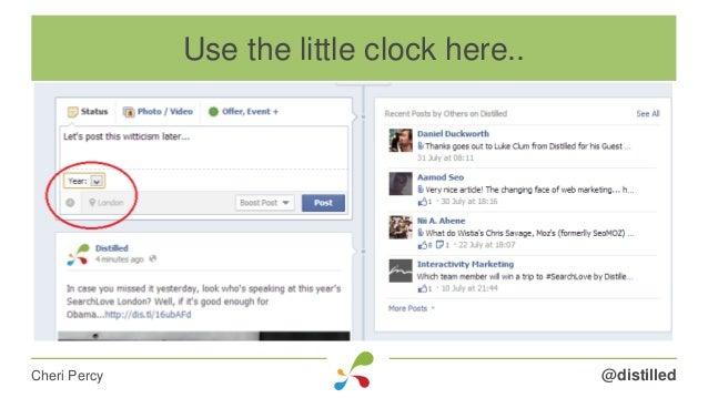 @distilledCheri Percy Use the little clock here..