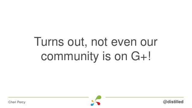 Turns out, not even our community is on G+! @distilledCheri Percy