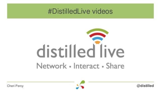 @distilledCheri Percy #DistilledLive videos