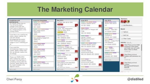 @distilledCheri Percy The Marketing Calendar