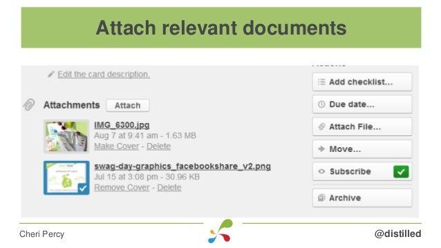 @distilledCheri Percy Attach relevant documents