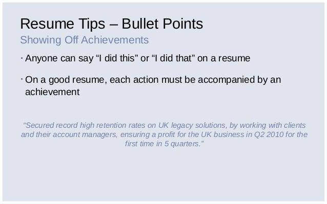 good resume tips