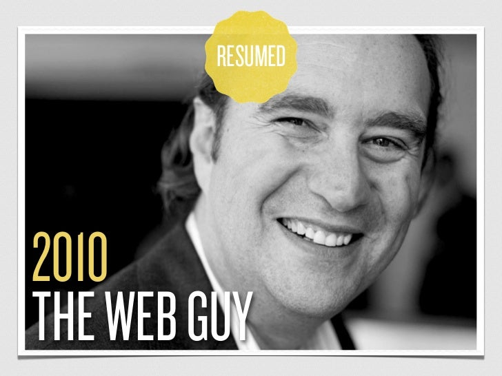 RESUMED2010THE WEB GUY