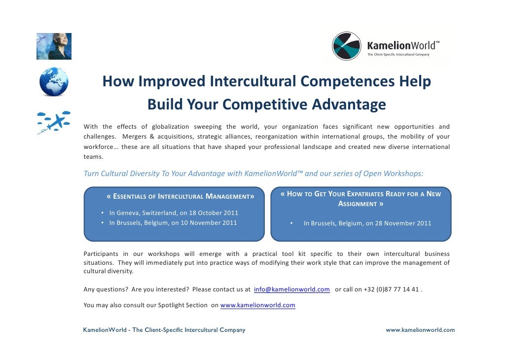 How Improved Intercultural Competences Help           Build Your Competitive AdvantageWith the effects of globalization sw...
