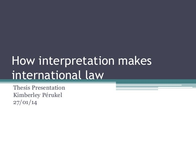 Master thesis international business law