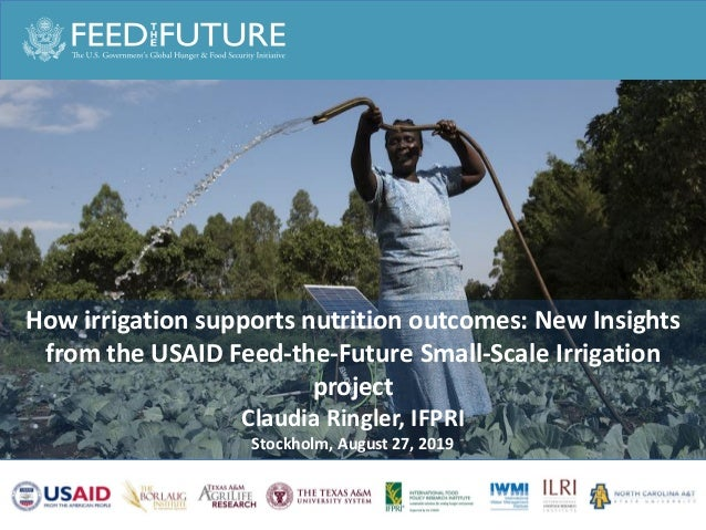 How irrigation supports nutrition outcomes: New Insights from the USAID Feed-the-Future Small-Scale Irrigation project Cla...