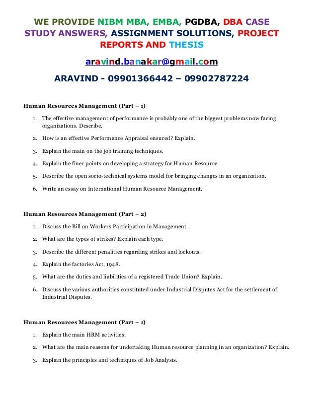 NIBM MBA ASSIGNMENT ANSWER PROVIDED
