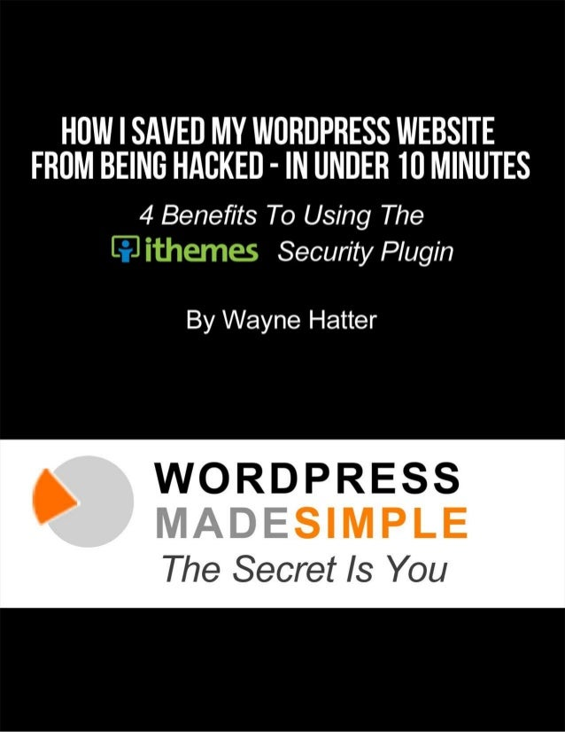 Table of Contents THE YEAR MY SISTER'S WORDPRESS WEBSITE GOT HACKED...................... 3 4 BENEFITS TO USING THE ITHEME...