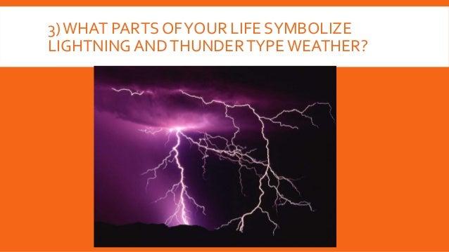 3)WHAT PARTS OFYOUR LIFE SYMBOLIZE LIGHTNING ANDTHUNDERTYPEWEATHER?