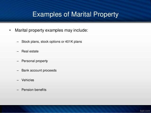 Stock options marital property