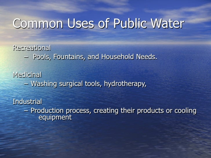 Public Water Systems                                                http://www.cdc.gov/healthywater/images/drinking/      ...