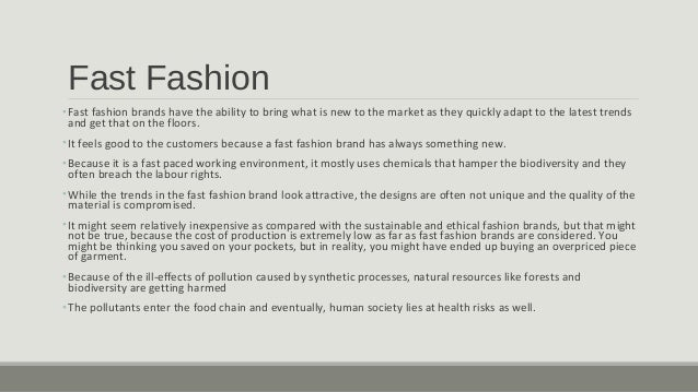 3 Fast Fashion OFast Brands