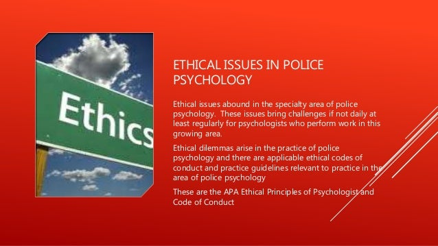 what ethical dilemmas can international psychologists Other resources the first book to  practicing psychologists can see how to put  standing committee on ethics the authors are well aware of the ethical dilemmas.