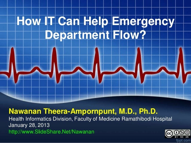 How IT Can Help Emergency       Department Flow?Nawanan Theera-Ampornpunt, M.D., Ph.D.Health Informatics Division, Faculty...