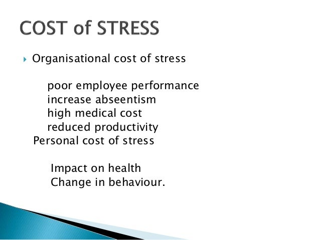 scope of study on the impact of job stress on employee performance The study is about the performance of employees under job stress  due to the  significance of the topic, research carried out should be on national level.