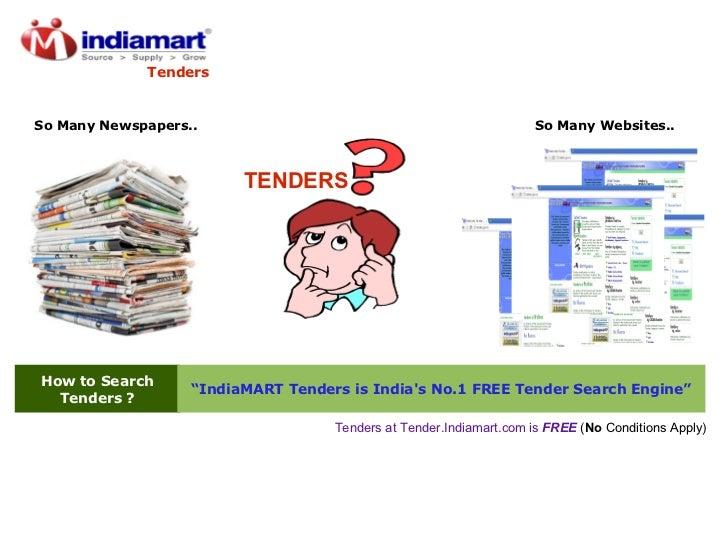 """How to Search Tenders ? """" IndiaMART Tenders is India's No.1 FREE Tender Search Engine"""" TENDERS Tenders at Tender.Indiamart..."""