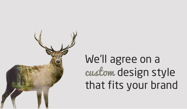 We'll agree on a custom design style that fits your brand