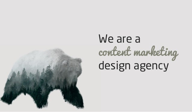 We are a content marketing design agency