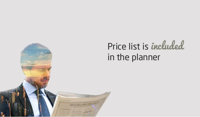 Price list is included in the planner