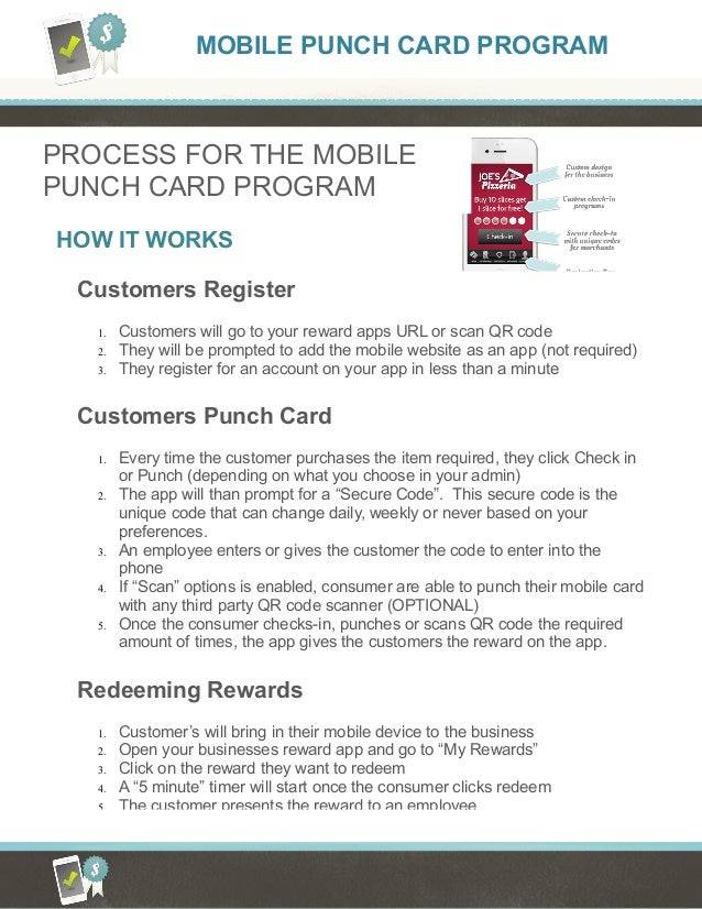 Complete loyalty solutions how it works mobile punch card how it works process for the mobile punch card program customers register 1 customers will colourmoves