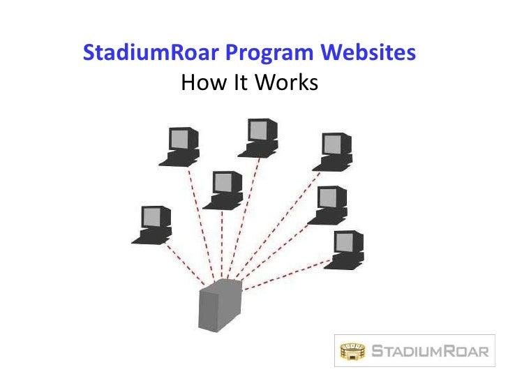 StadiumRoar Program Websites<br />How It Works<br />