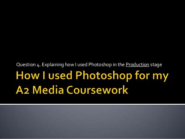 Question 4. Explaining how I used Photoshop in the Production stage