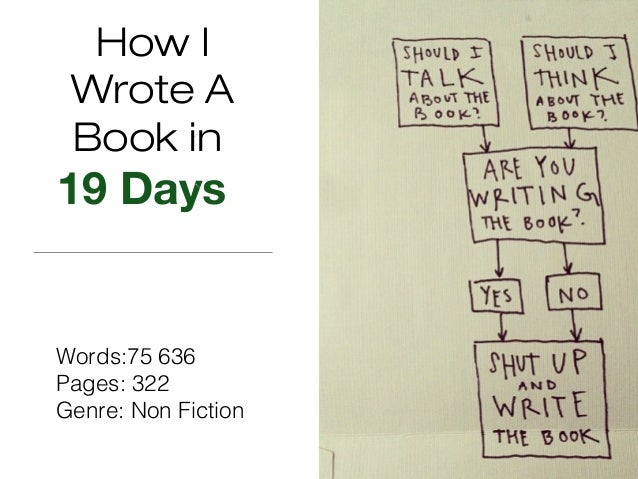 How I Wrote A Book in 19 Days Words:75 636 Pages: 322 Genre: Non Fiction