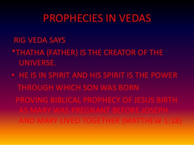 what rig veda says about jesus