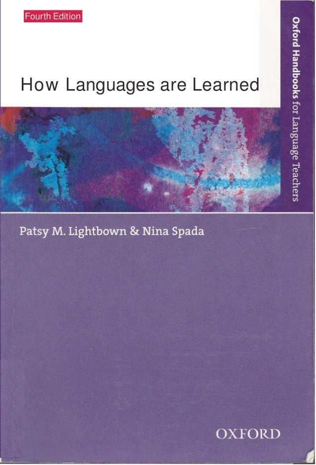 Lightbown and spada 2006 how languages are learned pdf