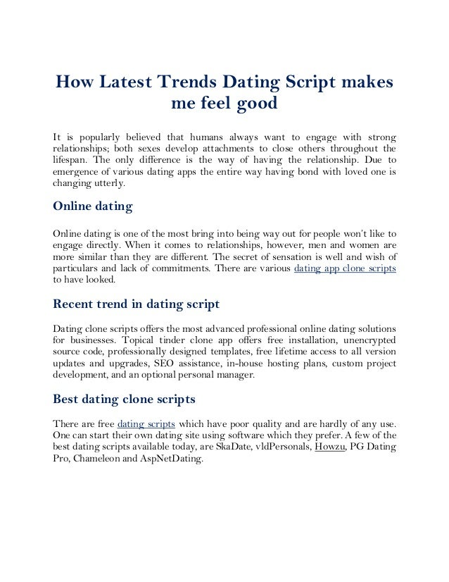 Free dating script software free