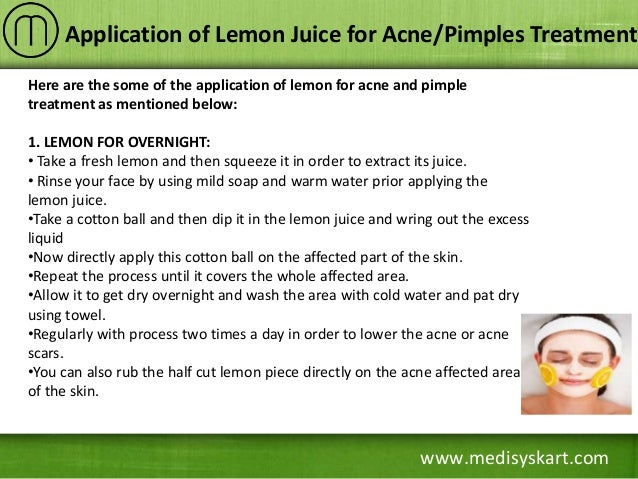 Lemon Juice For Acne Scars Overnight