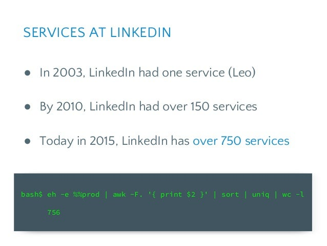 CACHING TAKEAWAYS ● Caches are easy to add in the beginning, but complexity adds up over time. ● Over time LinkedIn remove...