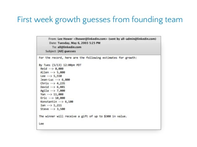First week growth guesses from founding team