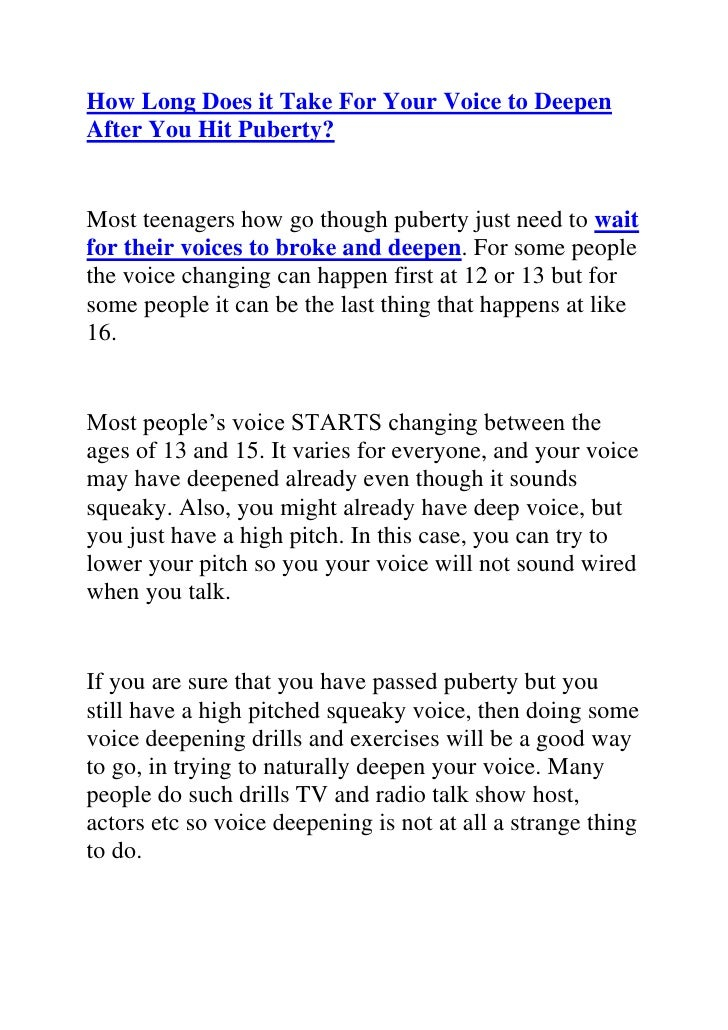 How to talk in a deep voice