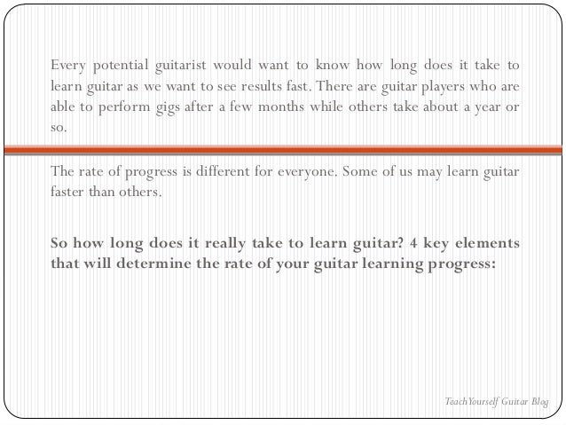How Long To Learn To Play Guitar : how long does it take to learn guitar ~ Vivirlamusica.com Haus und Dekorationen
