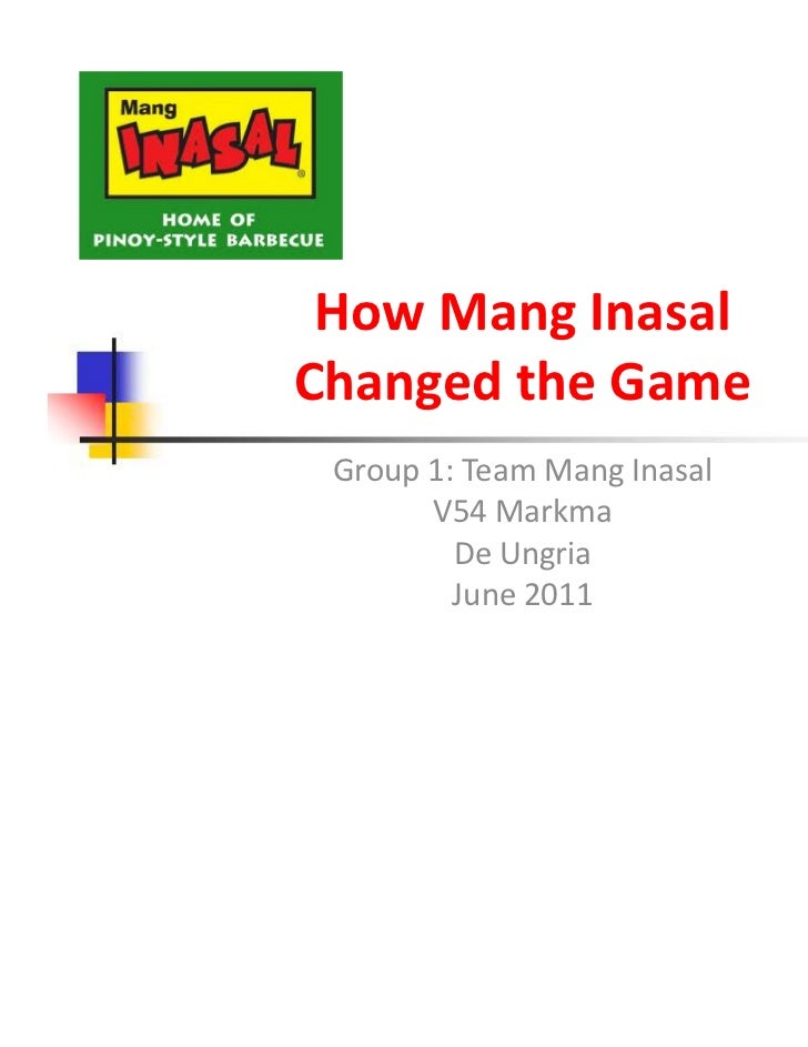 Mission and Vision of Mang Inasal Paper