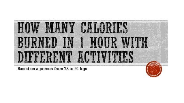 How Many Calories Burned in 1 Hour with Different Activities