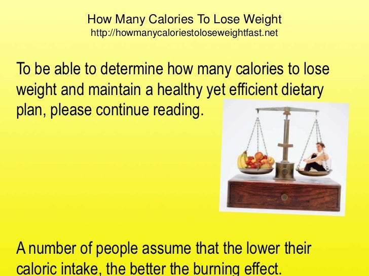 calorie intake per day for weight loss