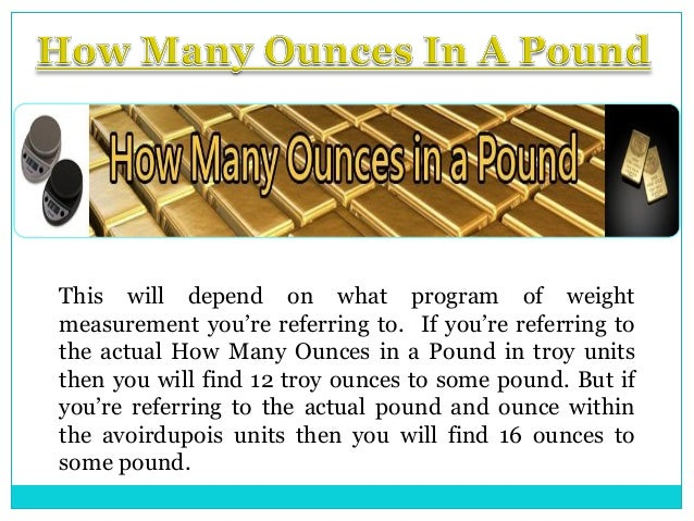 how to change pounds to ounces