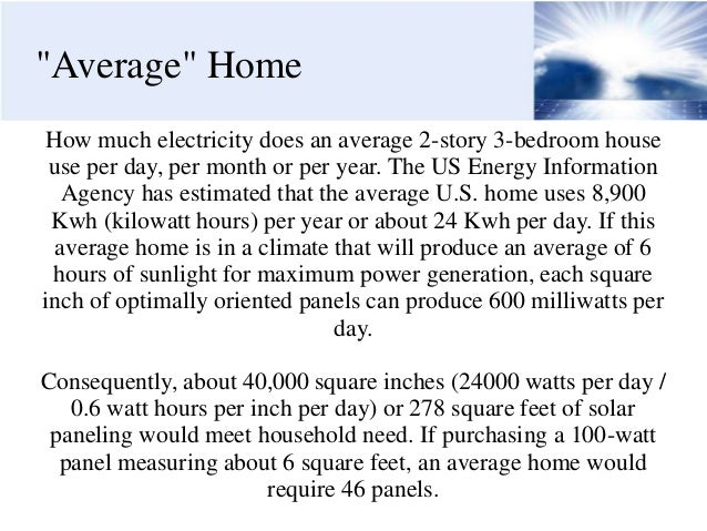 How Much Electricity Does A House Use 3