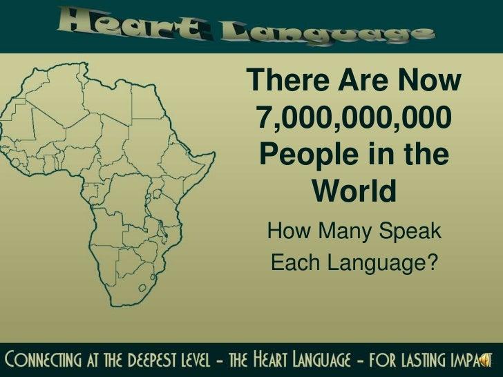 How Many Speak Each Language - How many people speak each language